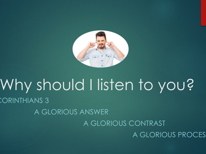 Why Should I Listen to You?