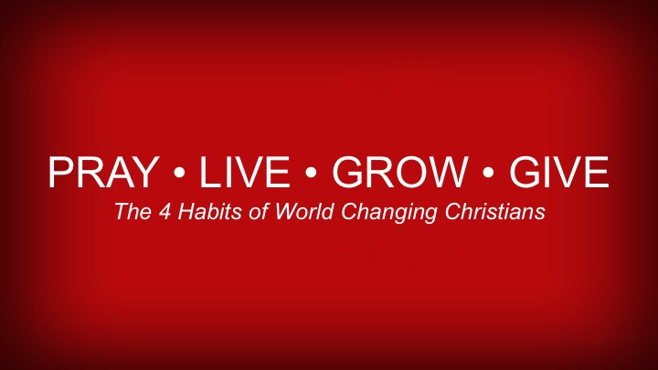 GIVE – World Changing Christians are Generous Givers